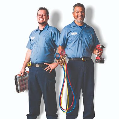 2 AC repair technicians