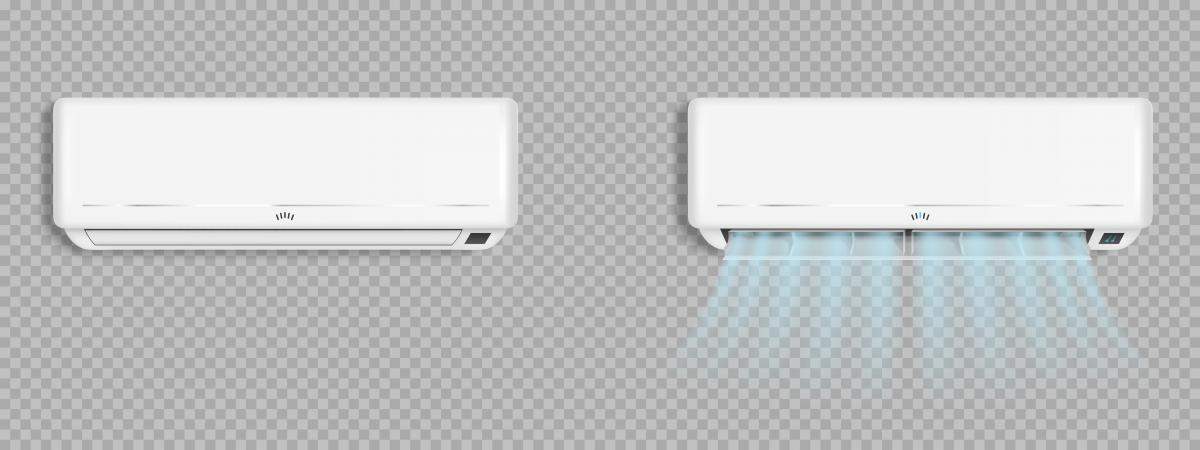 two wall ac units blowing cool air